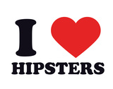 I Heart Hipsters Gicleetryck