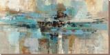 Un fjord le matin Reproduction transférée sur toile par Silvia Vassileva