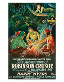 The Adventures Of Robinson Crusoe - 1922 Prints