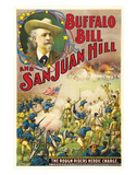 Buffalo Bill And San Juan Hill - 1902 Reproduction procédé giclée