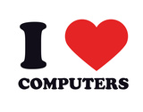 I Heart Computers Giclee Print