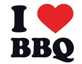 I Heart BBQ Gicléetryck