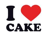I Heart Cake Giclee Print