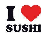 I Heart Sushi Giclee Print
