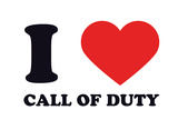 I Heart Call of Duty Giclee Print