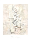 Femme a la Mandoline (Madmoiselle Leonie assie) Impressões colecionáveis por Pablo Picasso