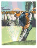 Golf Tournament (Tee Off) Collectable Print by Jim Jonson