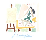 Le Modele Dans L'Atelier Impressão colecionável por Pablo Picasso