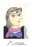 Buste de Femme au Foulard Mauve Sammlerdrucke von Pablo Picasso