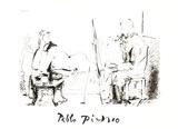 Le Pientre et Son Modele Impressões colecionáveis por Pablo Picasso