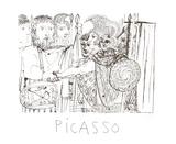 Composição Impressão colecionável por Pablo Picasso