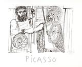 Etude pour Lesistratas Impressão colecionável por Pablo Picasso