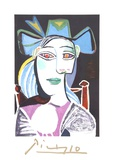 Buste De Femme Au Chapeau Bleu Reproductions pour les collectionneurs par Pablo Picasso