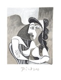 Femme Accoudee au Fauteuil Stampe da collezione di Pablo Picasso