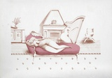 Lounging with Harp (Rose) Edición limitada por Branko Bahunek
