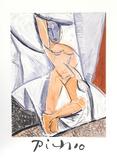 Etude pour le nu a la Draperie Impressões colecionáveis por Pablo Picasso