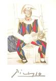 Arlequin a la Guitare Impressão colecionável por Pablo Picasso