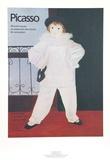 Paul en Pierrot Lámina coleccionable por Pablo Picasso