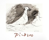 Pigeons Collectable Print by Pablo Picasso