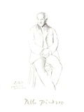 Portrait du Maitre de Ballet de la Scala de Milan Impressões colecionáveis por Pablo Picasso