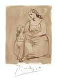 Maternite Láminas coleccionables por Pablo Picasso