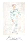 Arlequin en pied Impressão colecionável por Pablo Picasso