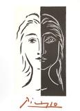 Portrait en Deux Parties Noire et Blanche Samletrykk av Pablo Picasso