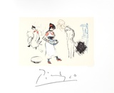 Etude de Personnages Impressões colecionáveis por Pablo Picasso