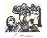 Couple et Enfant au Rameau D'Olivier Collectable Print by Pablo Picasso