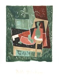 Nu au Bras Leve de Face Collectable Print by Pablo Picasso