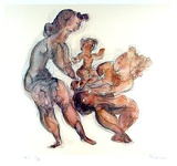 Women with Child Edicin limitada por Chaim Gross