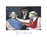 Photo Rehasse de Picasso et Manuel Pallar Collectable Print by Pablo Picasso