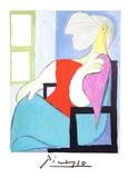 Femme Assise Pres D'une Fenetre Sammlerdrucke von Pablo Picasso