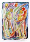 Bailarines Láminas coleccionables por Chaim Goldberg