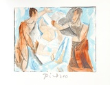 Etude de Personnages Collectable Print by Pablo Picasso