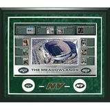Jets Timeline Turf Collage Framed Memorabilia