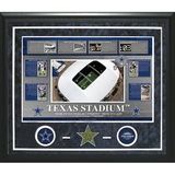 Texas Stadium Timeline Turf Collage Framed Memorabilia