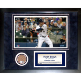 Ryan Braun Mini Dirt Collage Framed Memorabilia
