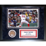 Jason Varitek Mini Dirt Collage Framed Memorabilia