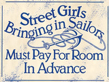 Street Girls Sailors Wall Sign