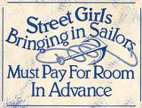 Street Girls Sailors Cartel de pared