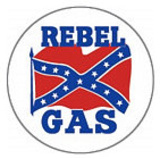 Rebel Gas Logo Round Tin Sign