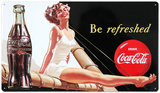 Drink Coca Cola Coke Be Refreshed Beauty Tin Sign