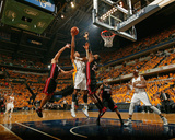 Indianapolis, IN - May 24: Miami Heat and Indiana Pacers - Danny Granger and Ronny Turiaf Photographic Print by Nathaniel S. Butler