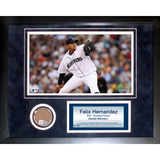 Felix Hernandez Mini Dirt Collage Framed Memorabilia