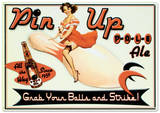 Pin Up Pale Ale Beer Bowling Plaque en métal