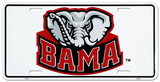 University of Alabama Elephant License Plate Tin Sign