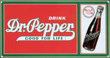 Drink Dr. Pepper Soda Good For Life Plaque en métal