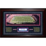 Giants Panoramic Turf Collage Framed Memorabilia