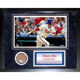 Chase Utley Mini Dirt Collage Framed Memorabilia